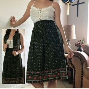 VTG German Folk 2-Piece Skirt and Vest